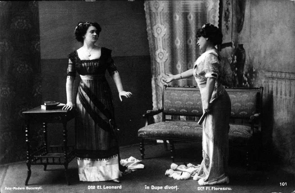 Actrițele Elena Leonard și Florica Florescu