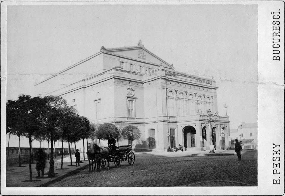 Teatrul Național din București la sfârșitul anilor 1800