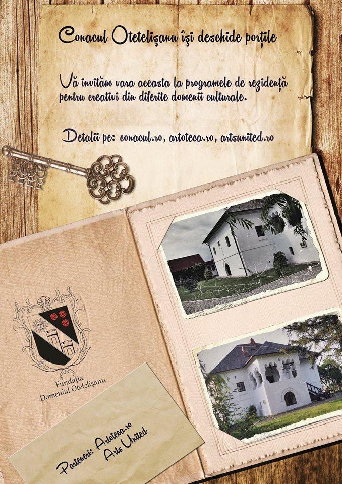 Fundația Domeniul Otetelișanu, Arts United și Artoteca își așteaptă oaspeții la Conacul de la Benești